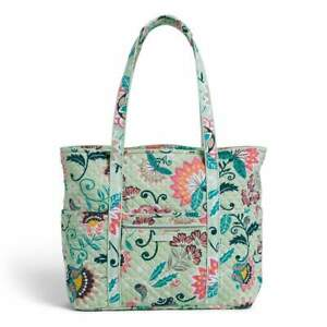 """Vera Bradley Mint Flowers Get carried away x large 23"""" travel tote bag NWT"""