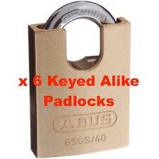 ABUS 65CS40 40mm -KEYED ALIKE Brass Bodied Padlock