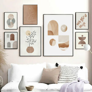 Botanical Poster Geometric Abstract Canvas Painting Modern Art Print Archway