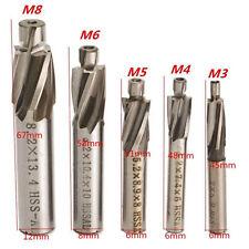 5xM3-M8 Drill Bits 4Flute Countersink HSS-AL End Mill Cutter Pilot Slot Tool Set