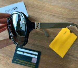 New £300 FENDI The Fendista Sunglasses Women's Oversized Frame FF 0032/F/S 7RB9O