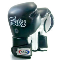 FAIRTEX MUAY THAI BOXING BGV6 GLOVES 16 OZ BLACK WHITE SPARRING STYLISH ANGULAR