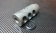 New .308 Competition 5/8x24 Steel Muzzle Brake + FREE Crush Washer