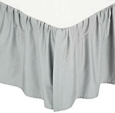 New American Baby Company 100% Cotton Percale Ruffle Crib Skirt in Gray!