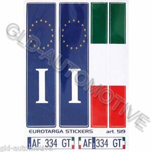 ADESIVI TARGA EUROTARGA 10x12cm Adesivo Europa Italia Stickers Auto Moto ESPRESS