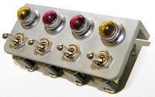 Gauge Panel Bezel Sandblasted Aluminum On Off 4 Free Lights & Toggle Switches