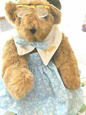 "Vermont 17"" Light Brown Teddy Bear Dressed as a Seamstress"