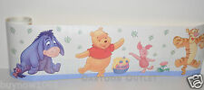 "WINNIE THE POOH TIGGER PIGGLET WALL STICKER BORDER 5"" X 5' WALL BORDER DISNEY"