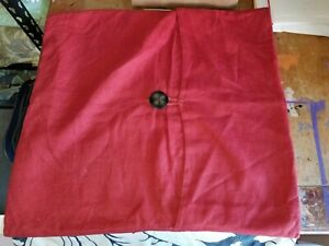 """Pottery Barn Red Linen 20"""" Button Pillow Cover"""