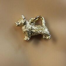 9ct gold new  cairn terrier charm