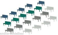 Faller 180441 H0, 20 Bänke in verschiedenen Farben, Neu (Stck=0,32€)