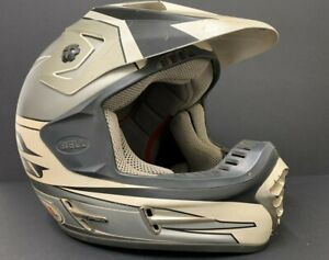 Vintage Bell Motocross Helmet MOTO 7 R with Original Visor, Size Small