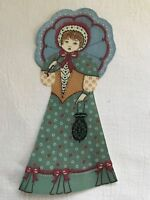 "Victorian Courtship Doll - 1 - Iron-On Fabric Appliques.. 6 3/4"" Tall.  (K)"