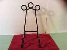 LARGE DECCORATIVE BLACK METAL BOOK,ART, PICTURE, TABLE TOP STAND