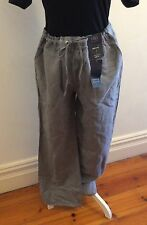 NEWI Marks & Spencer Wide Leg Chambray Pants Size 14 UK