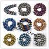 Titanium Natural Druzy Quartz Matte Agate Coated Round Beads 6/8/10/12/14mm