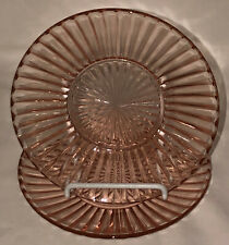 "2 Anchor Hocking QUEEN MARY PINK *5 3/4"" LINER PLATES*"