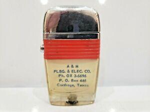Vintage Working Scripto VU Lighter A & M PLBG & ELEC. CO. TEXAS 1094.29