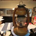 VINTAGE ELGIN Oil Kerosene Lamp Farm Lantern Star Bottom Decor;  Working??
