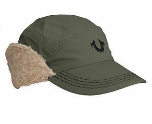 True Religion Trapper Hat Mens Winter Cap TR2626 Green One Size 100% Genuine New