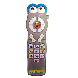 Sesame Street ELMO PRETEND PLAY TV REMOTE CONTROL TOY  Silly Sounds/Numbers FUN