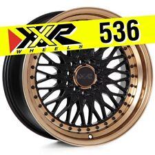 XXR 536 17x9 5-100/5-114.3 +25 Flat Black/Bronze Wheels (Set of 4) Classic Mesh