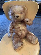 "Old Vintage Antique 16"" Jointed Ombré Mohair TEDDY BEAR Growler"