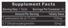 Hi-Tech Pharma 1-Testosterone Tablets - 60 tablets with free Mask