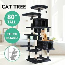 "80"" Multi-Level Cat Tree Large Play House Climber Activity Center Tower Stand Us"