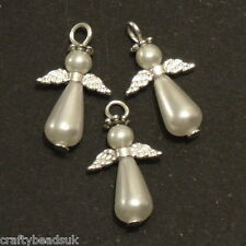 Mini Ivory Pearl Angel Making Kit Makes 10 Beaded Pendants Charms Jewellery P4