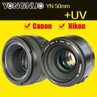 Yongnuo 50mm F /1.8 Standard Prime Lens Auto Manual Focus AF MF for Nikon/ Canon