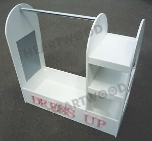 Dressing up stand/Hanging rail/Painted white 700mm high/Bookcase/7 free letters