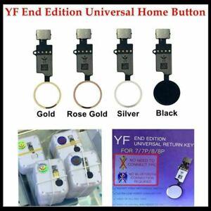 YF Universl Solution Home Button Flex Cable for Apple iPhone 7 7 Plus 8, 8 + LOT