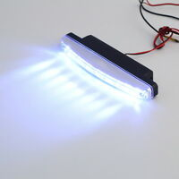 2pc Super White 8 LED Universal Car Light DRL Daytime Running Head Lamp DC 12V #