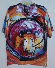 Jimi Hendrix Dragonfly Button Up Shirt Large ARE YOU EXPERIENCED album cover art