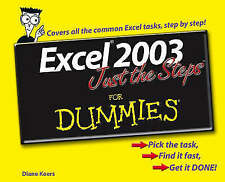 Koers, Diane, Excel 2003 Just the Steps For Dummies, Paperback, Very Good Book