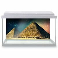 Fish Tank Background 90x45cm - Galaxy Egyptian Pyramid Space  #8909