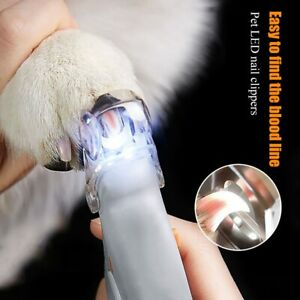 Dog Nail Scissors Pet Nail Clippers LED Light Claw Nail Scissors Pet Supplies