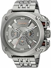BRAND NEW DIESEL DZ7344 BAMF GUNMETAL GRAY ION-PLATED CHRONOGRAPH MEN'S WATCH