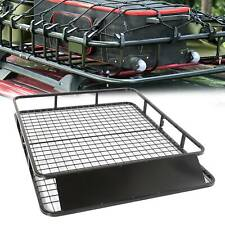 Large Black Aluminium Roof Rack Basket Tray Luggage Cargo Carrier with Bars XL