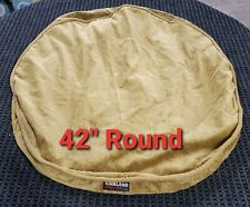 """Kirkland Signature 42"""" Round Dog Bed Cover Gold Faux Suede"""