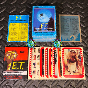 TOPPS 1982 E.T. EXTRA-TERRESTRIAL COMPLETE 87-TRADING CARD/9-STICKER SET WRAPPER