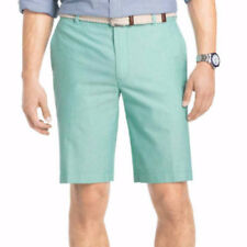 IZOD Men's Shorts Newport Oxford Simply Green Flat Front Size 40 New