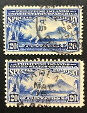Scott E3 E4 Special Delivery 20 Centavos Us Philippines Possessions 1911-1916