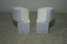 2 BOSE DOUBLE CUBE SPEAKERS CLEAN! WHITE CLEAN ACOUSTIMASS LIFESTYLE 28/35/38/48