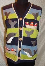Belle Pointe L Sweater Vest Jonah and the Whale Womens Fishermen Boat Fish