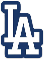 Los Angeles Dodgers LA logo Type Die-cut MAGNET