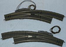 Fleischmann H0 1 Paar Bogenweichen mit elektr. Antrieb