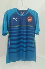 Puma Mens Arsenal Pre-match Soccer Jersey Blue/Lime Size Medium Nwt