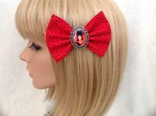 Beetlejuice Lydia Deetz hair bow clip rockabilly pin up girl retro vintage red